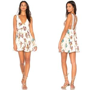•Free People• Floral Mini Dress